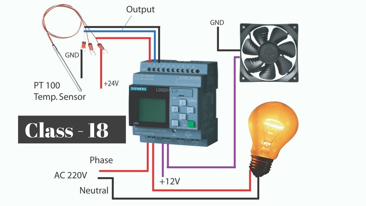 how to temperature sensor interfacing with plc plc bangla tutorial class 18 [ 1280 x 720 Pixel ]