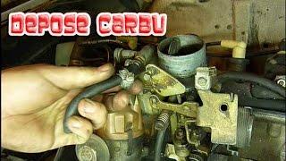 Dépose du carbu Solex Peugeot 504