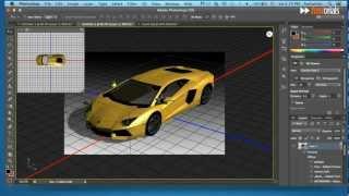 Fast Photoshop: Customize 3D car.