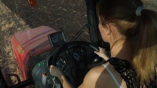 Девушка за рулём мтз 2022.3 (Дискование подсолнечника день 4-ый)
