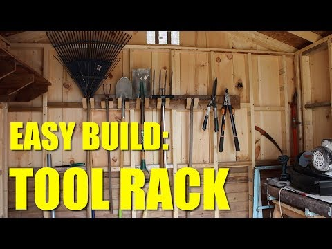 Tool Rack For Lawn Tools