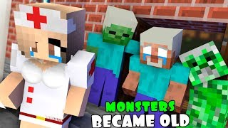 MONSTER SCHOOL : WHEN MONSTERS BECAME OLD - SAD MOMENTS (RIP HEROBRINE)