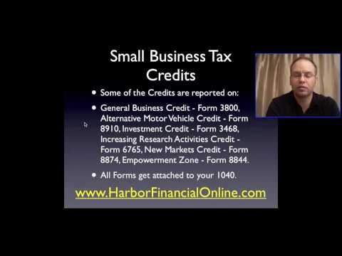Small Business Tax Credits In 2011, 2012