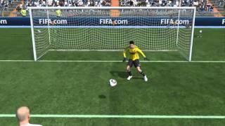 FIFA 2011 PC DEMO GOAL, flying backheel flick volley far post.