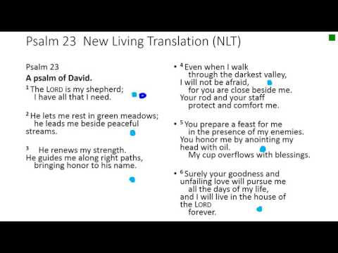 Memorize the 23rd Psalm