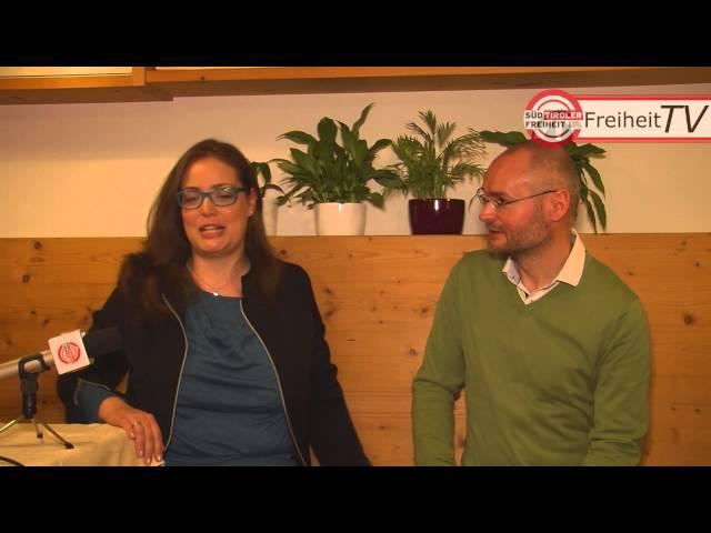 Kamingespräch in Meran/Obermais mit Reinhild Campidell und Cristian Kollmann