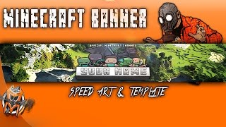 How To Make a Minecraft Banner -  Speed art and Template