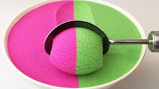 Very Satisfying and Relaxing Compilation 129 Kinetic Sand ASMR