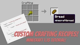 Custom Crafting Recipes | Tutorial for Minecraft 1.13 | Data Pack Tutorial | Easy! | New Recipes!