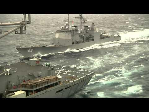 MSC UNREP: USS Enterprise (CVN 65) and USNS Supply (T-AOE 6) #2