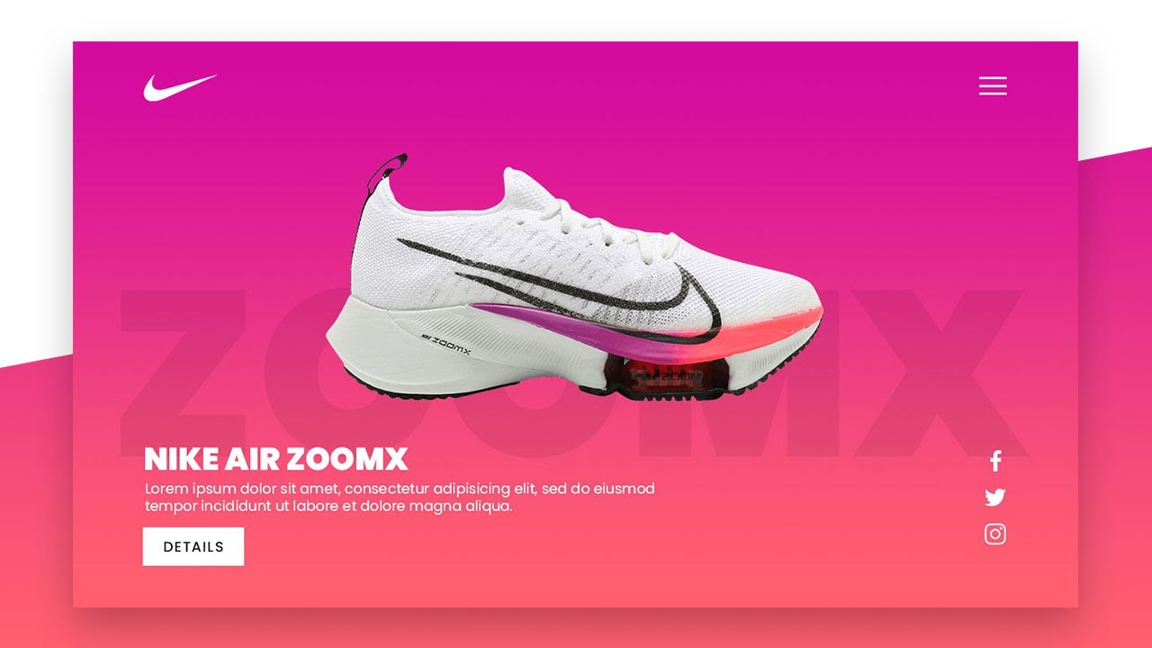 Simple Nike Shoe Responsive Landing Page Design using Html CSS Only | Website Design