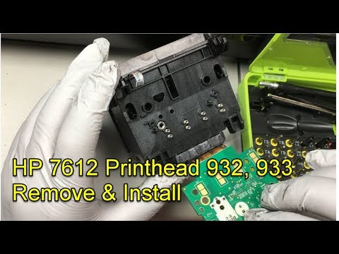 Fix HP 7612 Printhead Missing or Failed Problem - Part One - Remove and Install