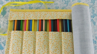 DIY - Roll-Up pencil case. NO SEW!