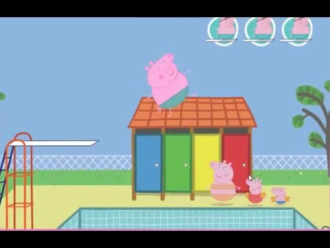 Juego peppa pig saltos en la piscina espa ol youtube for Peppa pig en piscina