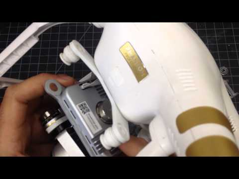 How to remove a DJI Phantom 3 gimbal