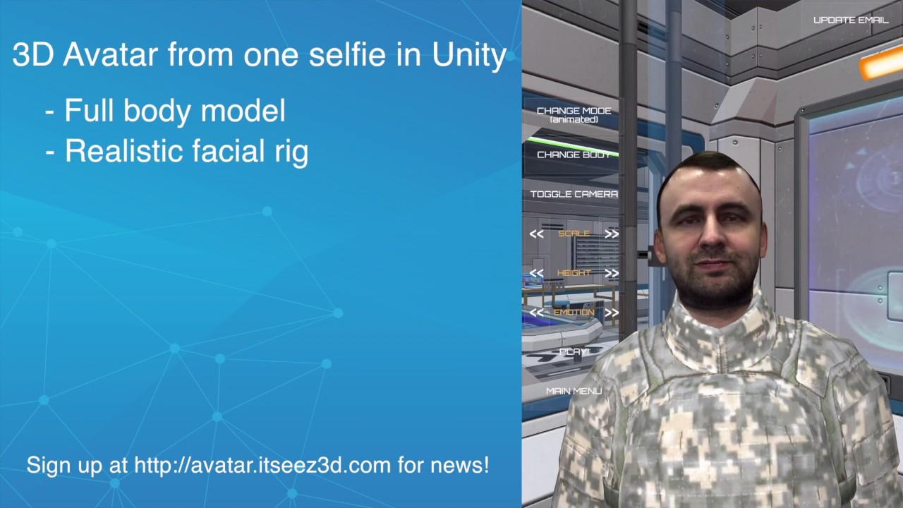 itSeez3D Avatar SDK Demo | Lifelike 3D Avatars for Games, VR, AR