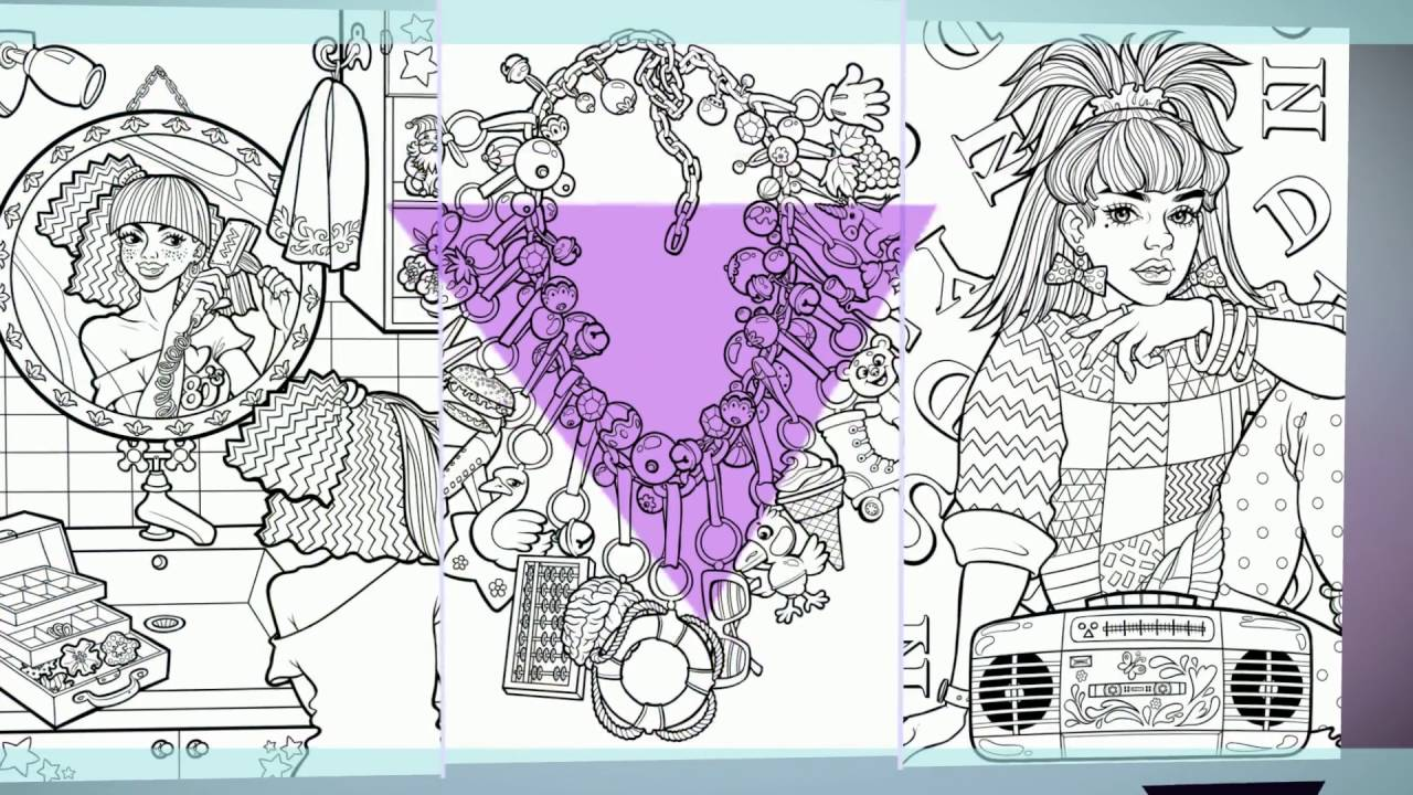 Back To The 80s 1980s Fads And Fashion Coloring Book For