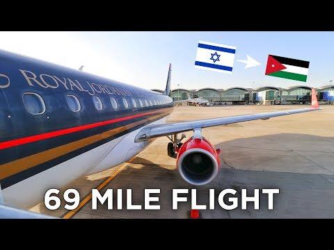 The 18-MINUTE, 69 MILES FLIGHT from ISRAEL to JORDAN
