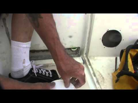 Fixing Leaky Catalina 25 Cockpit Scuppers Film 33