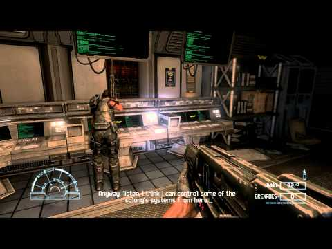 Aliens vs. Predator (2010) PC: Marine - Mission 1: Colony - Gameplay