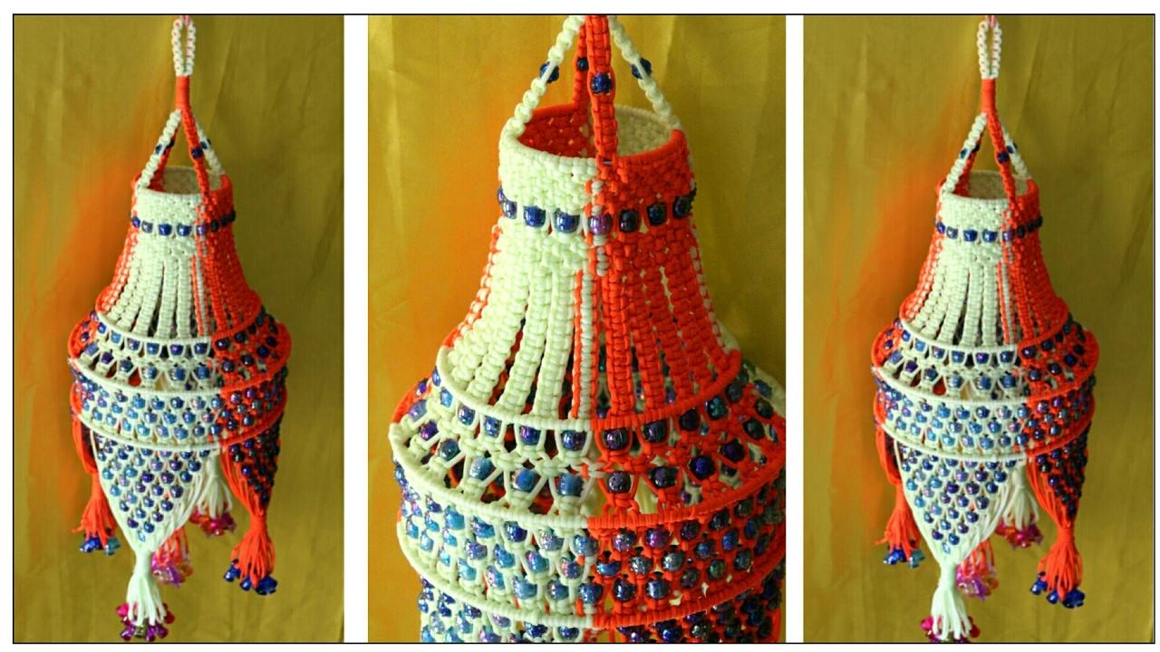 New Easy Macrame jhumar | Handmade Macrame jhumar | jhumar making at ...