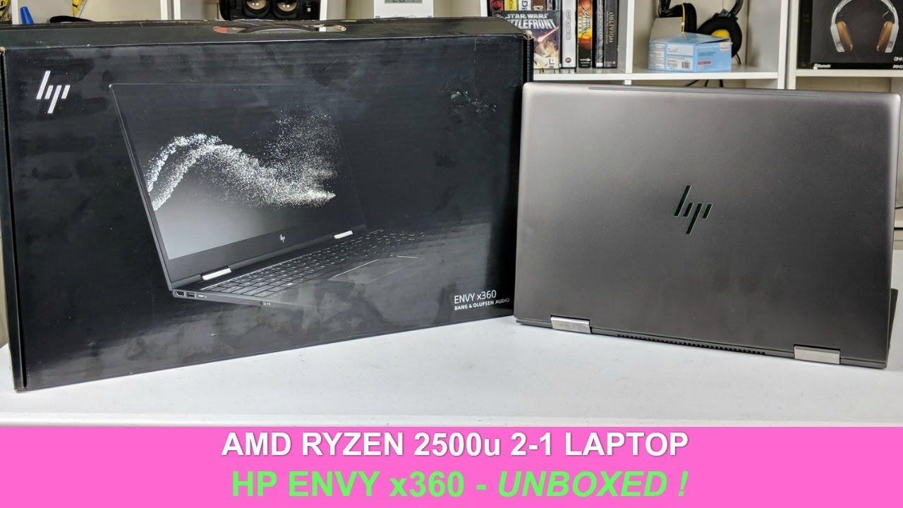 AMD Ryzen 2-1 Laptop ! HP Envy x360 with Pen Support - UNBOXED