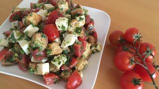 Лёгкий салат с сухариками/Yengil suxari qo'shilgan salat