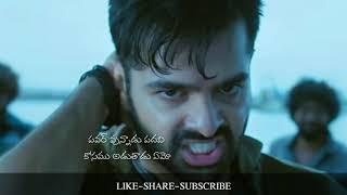 Yes Im middle class Very Emotional warning Ram Dialogue  telugu whatsapp status video
