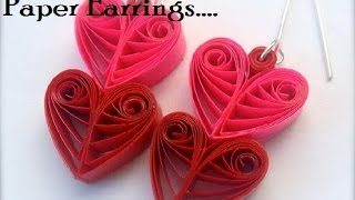 PAPER EARRINGS - How to make Beautiful Quilling Earrings Using Paper - Making Tutorial