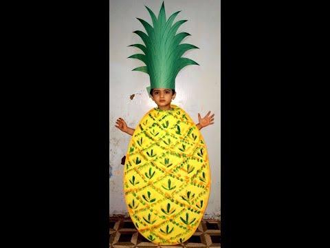 How to make/Pineapple/Fruit/ Fancy dress costume /tutorial/DIY/handmade/Kids