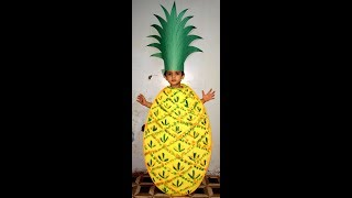 How to make/Pineapple/Fruit/ Fancy dress costume /tutorial/DIY/handmade/Kids