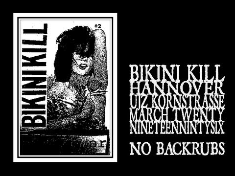 Bikini Kill - No Backrub (Hannover 1996)