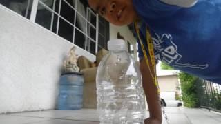 Bottle flipping insane land!!(my very first video)