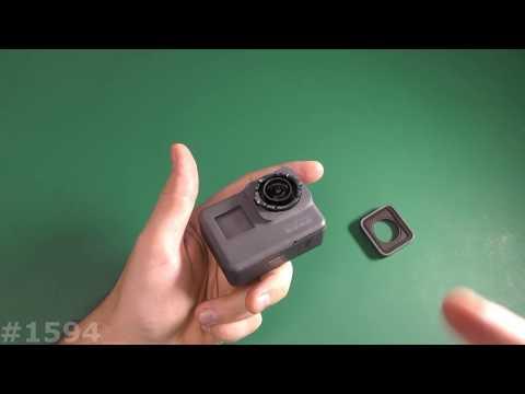 Снять крышку линзы GoPro Hero 5