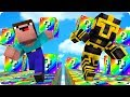CARRERA DE LUCKY BLOCKS ARCOIRIS EN MINECRAFT 😱