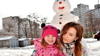 Лепим снеговика We are making a snowman