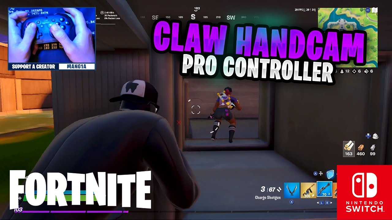 CLAW HANDCAM - Fortnite on the Nintendo Switch Pro Controller #95