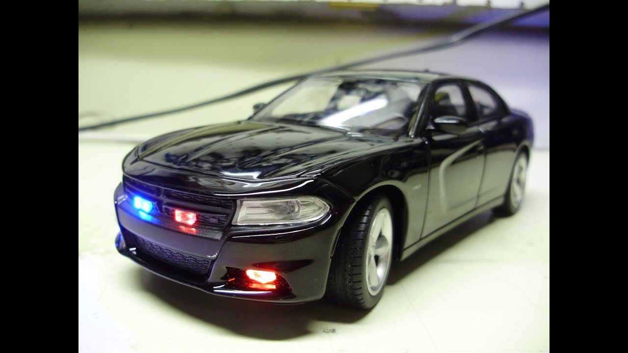 Custom 2016 Dodge Charger Unmarked Police Diecast Model
