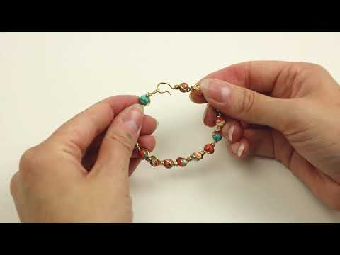 Making jewellery: Creating a bracelet with natural stone beads and Artistic Wire