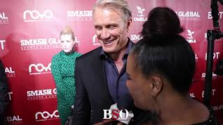 LOL! DOLPH LUNDGREN IMPERSONATES STALLONE & JAMES WAN; TALKS CREED & AQUAMAN ROLES