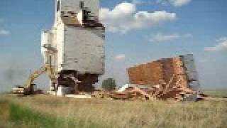 Mendham Grain elevator Demolition - 17/06/2009