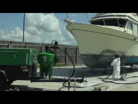 Dustless Blasting of Columbia Marine Antifouling Paint Removal