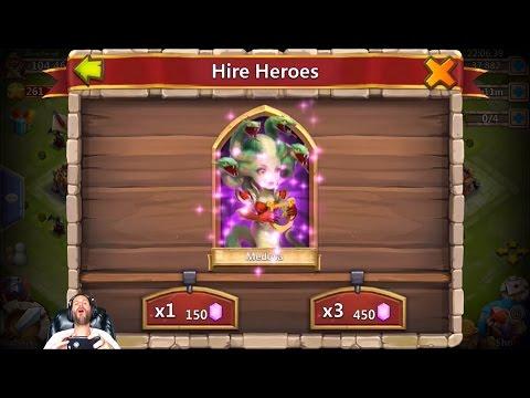 Rolling 42000 Gems For Skull Knight + Warlock 15 Egg Smashes Castle Clash