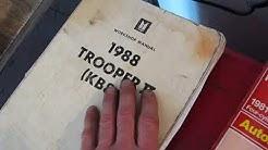 Windshield Wipers Explained Isuzu Trooper (KB83 & KB84) 1984-91