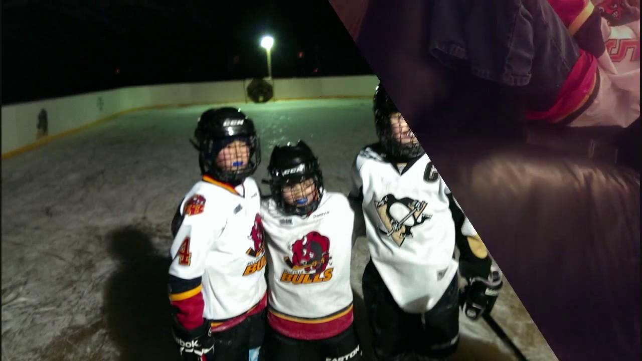 back yard hockey rink 2013 2014 youtube