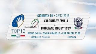 TOP12 2018/19, Giornata 10 - Valorugby Emilia v Mogliano Rugby 1969
