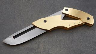 Knife Making - Weird Folding Knife