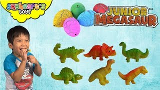 Cute BABY DINOSAUR Eggs - Junior Megasaur playtime with toddler and dinosaurs for kids toys