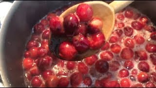 EASIEST CRANBERRY JAM RECIPE!