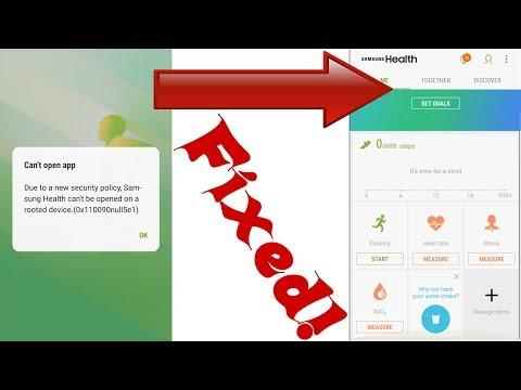 S Health ERROR FIXED Android 7.0 Samsung Galaxy S6 S7 S8 Edge Note